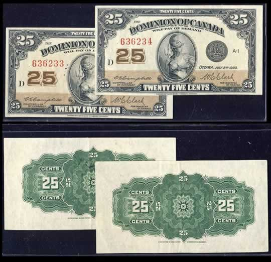 item170_1923 Twenty-Five Cents Consecutive Pair.jpg