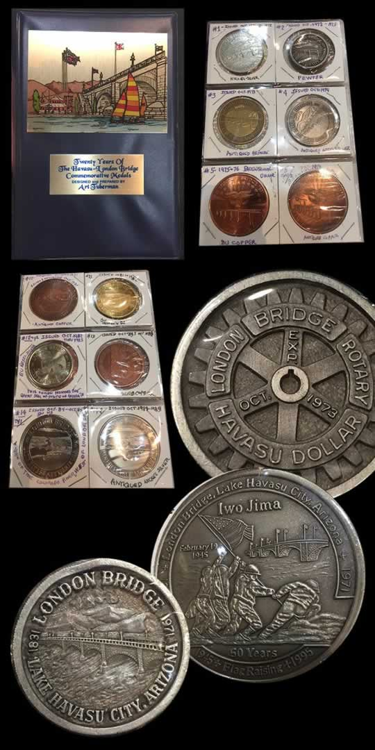 item628_A Complete Reference Set of Lake Havasu London Bridge Tokens.jpg