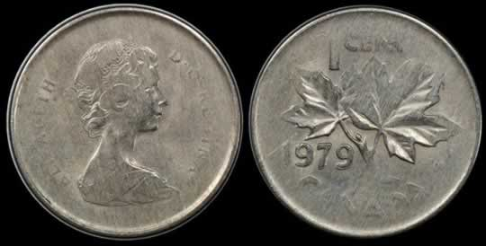 item80_Canada 1979 Cent struck on an unidentified Cupronickel Planchet.jpg