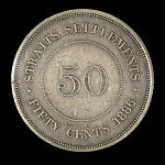Straits Settlements 50 Cent 1886