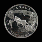 Canada 20 Dollar 2011 Winter Scene