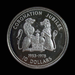 Cook Islands 10 Dollars 1978 Silver Jubilee