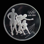 Canada 15 Dollar 1992 Atlanta Olympics Silver Proof