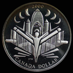 Canada Dollar 2000 Voyage of Discovery Silver Proof