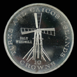Turks and Caicos Islands 10 Crowns 1976 Salt Windmill
