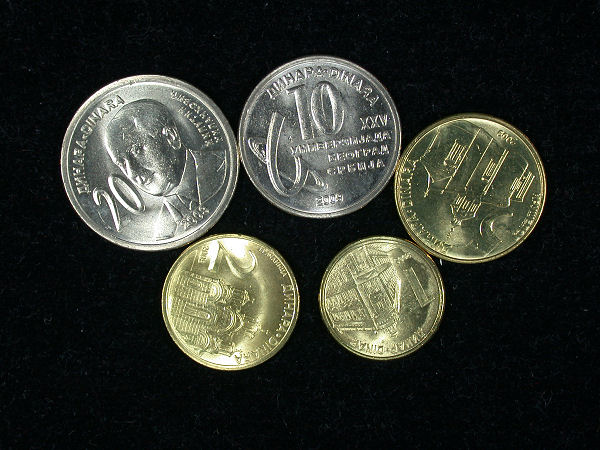 Serbia Set of 5 Coins