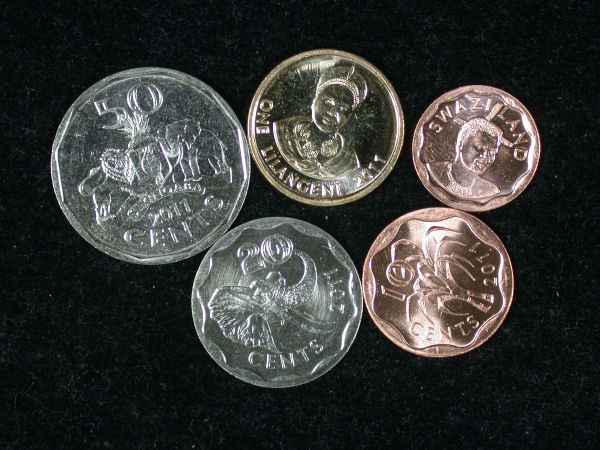 Swaziland Set of 5 Coins