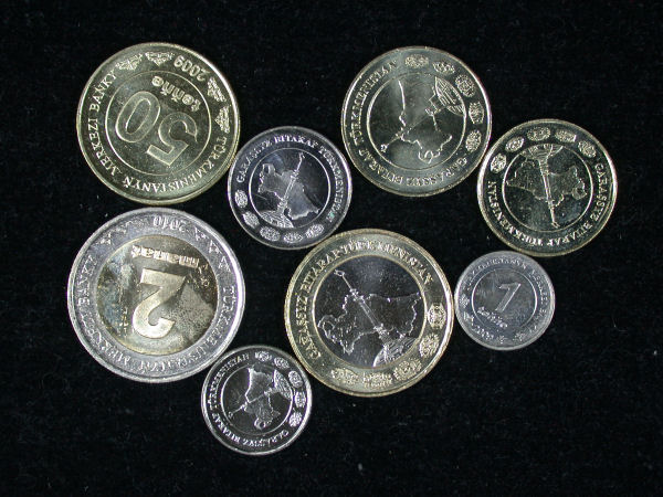 Turkmenistan Set of 8 Coins