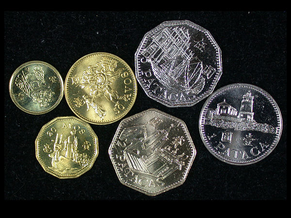 Macao Set of 6 Coins