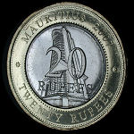 Mauritius Set of 7 Coins