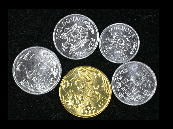 Moldova Set of 5 Coins