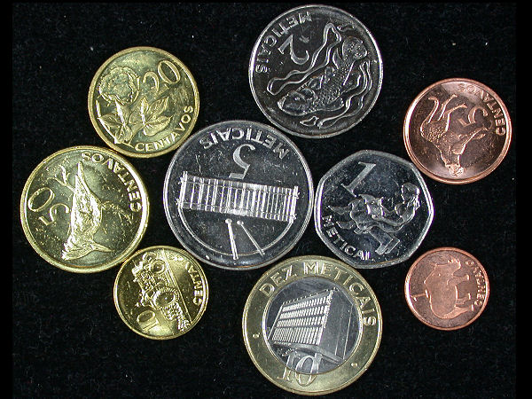 Mozambique Set of 9 Coins