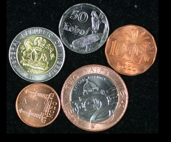 Nigeria Set of 5 Coins