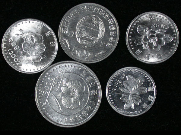 North Korea Set of 5 Coins