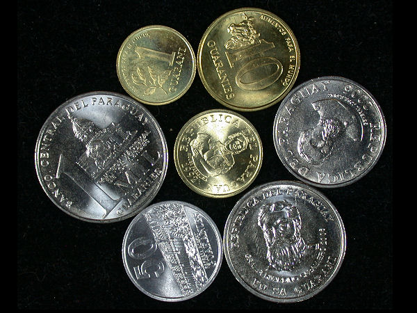 Paraguay Set of 7 Coins