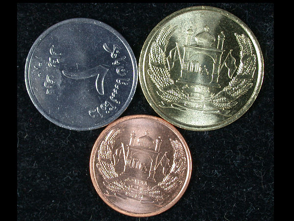 Afghanistan Set of 3 Coins
