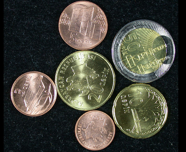 Azerbaijan Set of 6 Coins