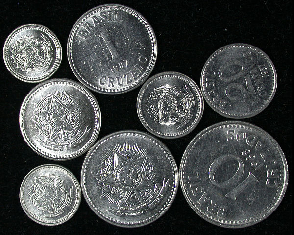 Brazil Set of 8 Coins