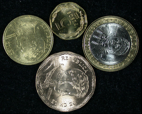 Chile Set of 5 Coins