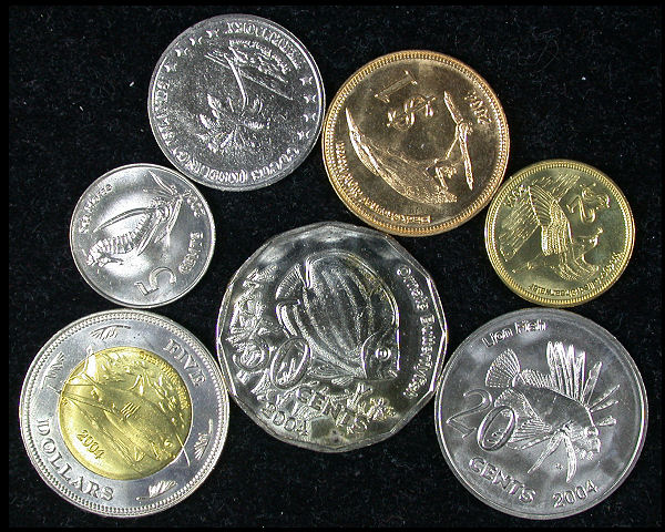 Cocos Keeling Islands Set of 7 Coins
