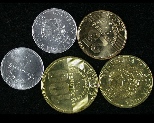 Costa Rica Set of 5  Coins