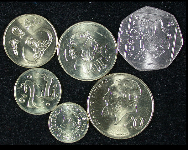 Cyprus Set of 6  Coins