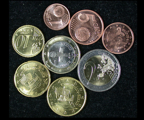 Cyprus Set of 8 Euro  Coins