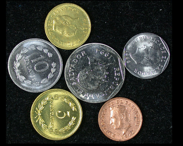 El Salvador Set of 6 Coins