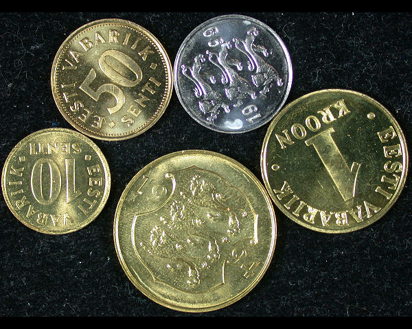 Estonia Set of 5 Coins