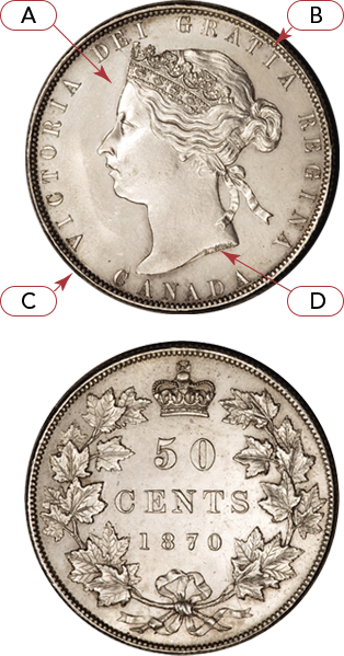 Obverse and Reverse of a Canadian coin